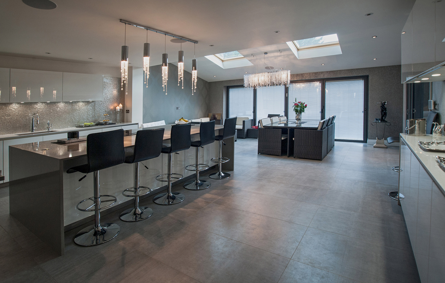 amy parmar interiors london kitchen and living room